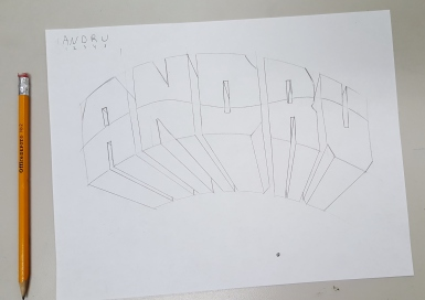 Easiest way to draw 3 d block letters art class bailiwick the example p below has a missing receding line this is a common mistake that you need to avoid expocarfo
