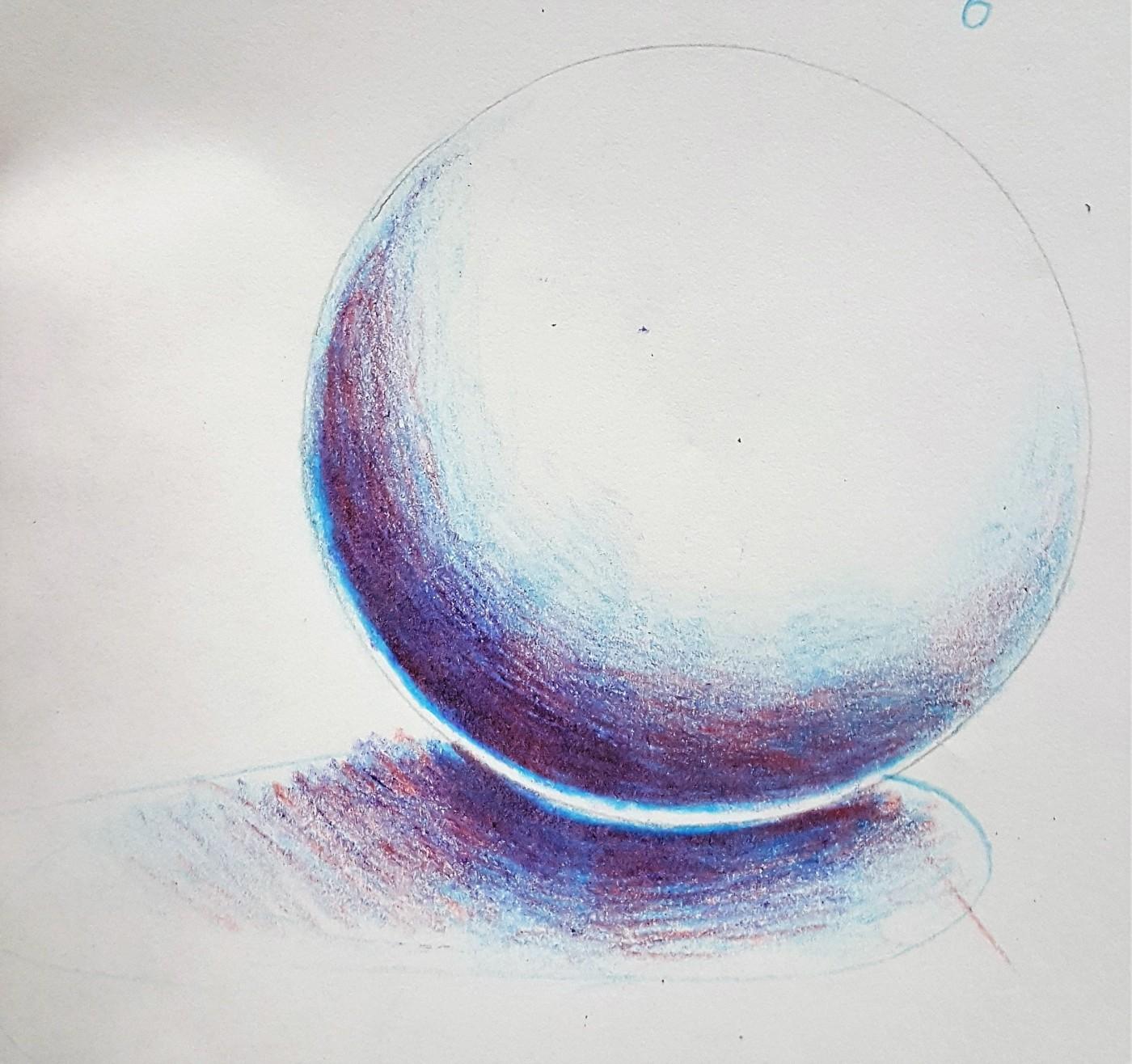 Color Pencil Layering Technique On A Sphere Art Class Bailiwick